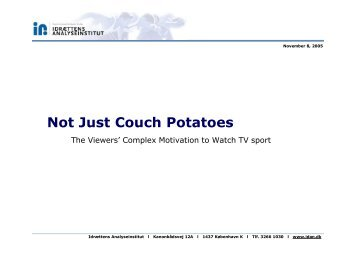 Not Just Couch Potatoes - Martin Hedal Idan ... - Play the Game