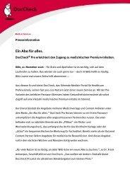 PROfitieren mit Premium / Der Alleskönner ... - DocCheck AG
