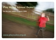 Download Annual Report - Play Wales