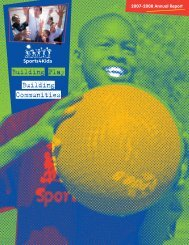 2007-08 Annual Report - Playworks