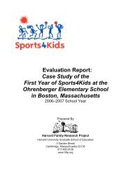 Evaluation Report: Case Study of the First Year of ... - Playworks
