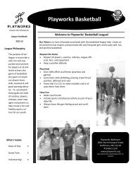 League Handbook - Playworks