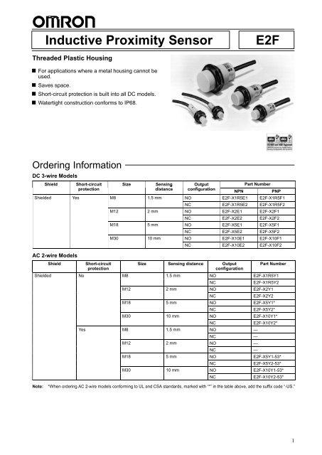 Inductive Proximity Sensor E2F - PLCeasy on