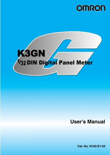 K3GN 1/32 DIN Digital Panel Meter User's Manual - PLCeasy