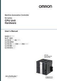 NJ-series CPU Unit Hardware User's Manual