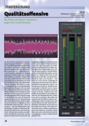 Studio Magazin Ausgabe 1/2009 - pleasurize music!