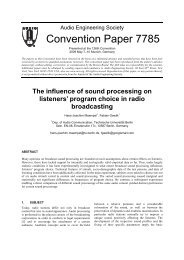 The influence of sound processing on listener's program choice