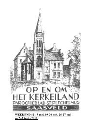 LITURGISCHE KALENDER - Parochie van de H. Plechelmus