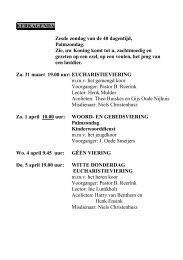 Klopke 31 maart - 1 april - Parochie van de H. Plechelmus