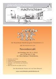 Sonntag, 02. Dezember 2012 11:00 –19:00 Uhr - Gemeinde ...