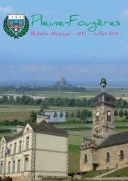 Bulletin municipal Juillet - mairie de Pleine-Fougères
