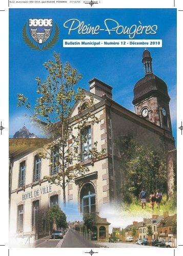Bulletin municipal décembre - mairie de Pleine-Fougères