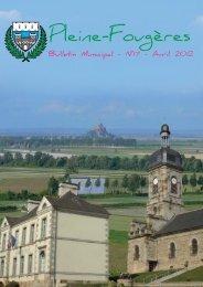Bulletin municipal Avril - mairie de Pleine-Fougères
