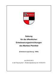 Entwässerungssatzung (EWS) - Pleinfeld