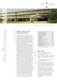 die fh-news 0 3/05 - Hochschule Hof