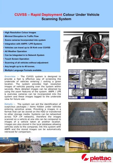 Mobile Under Vehicle Scanning Systems - plettac Security UK Ltd
