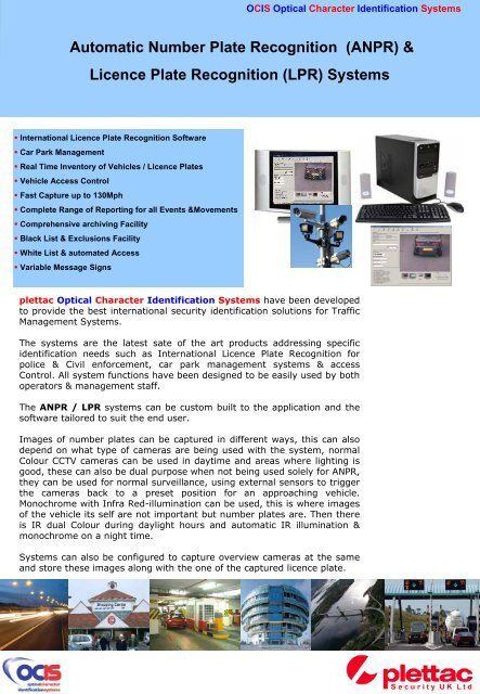Automatic Number Plate Recognition (ANPR) - plettac Security UK