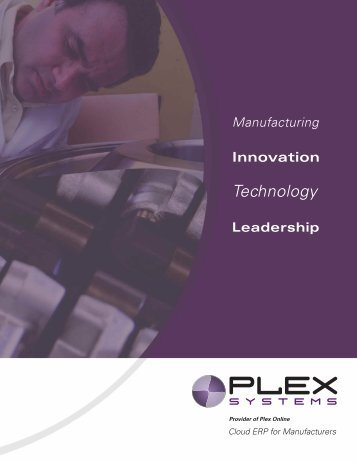 Manufacturing - Plex Systems