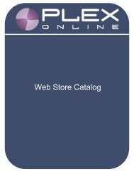 Web Store Catalog - Plex Systems