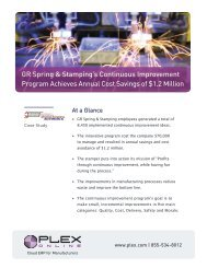 GR Spring & Stamping's Continuous Improvement ... - Plex Systems