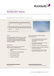 PDF (160.26 KB) - PLEXIGLAS