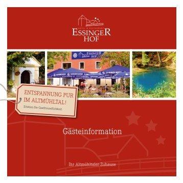 Gästeinformation anzeigen - Essinger Hof