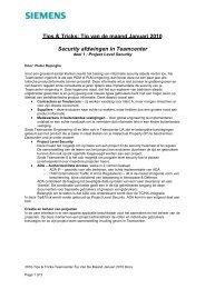 het belang van informatie security - Siemens PLM Software