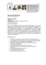 Solution Architekt (m/w) - Siemens PLM Software