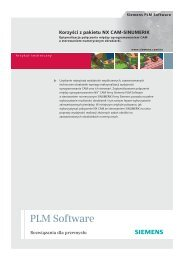 The NX CAM - Siemens PLM Software