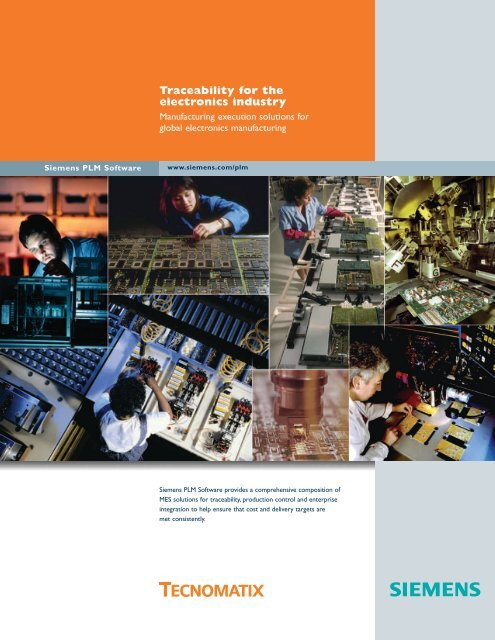 Traceability for the electronic industry - Siemens PLM Software