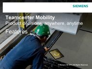Teamcenter Mobility - Siemens PLM Software