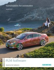 Sustainability for Automotive Solution Brief - Siemens PLM Software