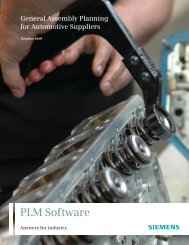 General assembly planning for automotive suppliers - Siemens PLM ...