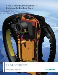Virtual product development - Siemens PLM Software