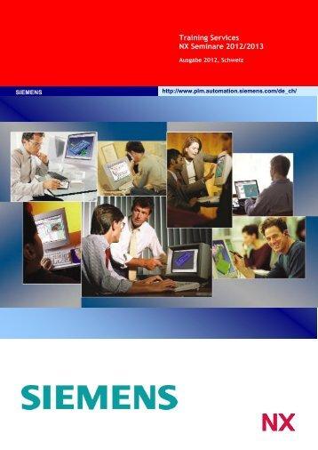 Training Services NX Seminare 2012/2013 - Siemens PLM Software