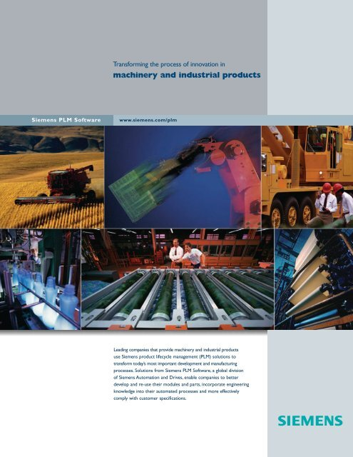 Machinery And industrial products - Siemens PLM Software