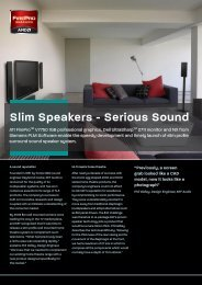 Slim Speakers - Serious Sound - Siemens PLM Software