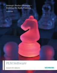 building the right product - Siemens PLM Software