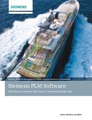 PLM division brochure - Siemens PLM Software