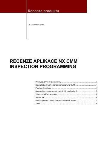 NX cmm Inspection programming - Siemens PLM Software
