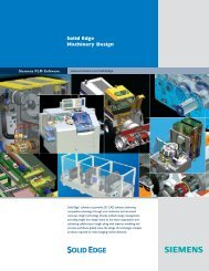 solid edge machinery design brochure - Siemens PLM Software