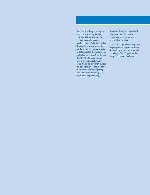 solid edge machinery design brochure - Siemens PLM Software