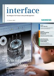 Interface 1/2011 - Siemens PLM Software