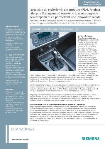 Shenzhen Hangsheng - Siemens PLM Software