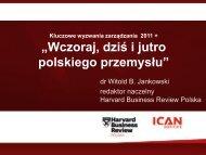 Wczoraj, dziś i jutro polskiego przemysłu - Siemens PLM Software