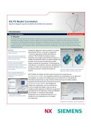 NX FE Model Correlation - Siemens PLM Software