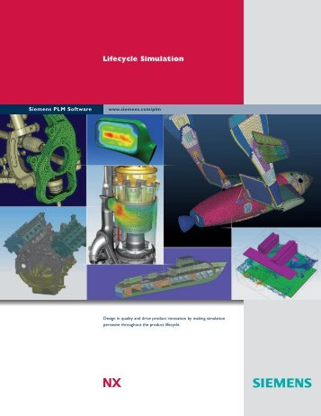 NX Lifecycle Simulation Brochure - Siemens PLM Software