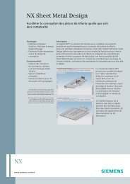 NX sheet metal design (French) - Siemens PLM Software
