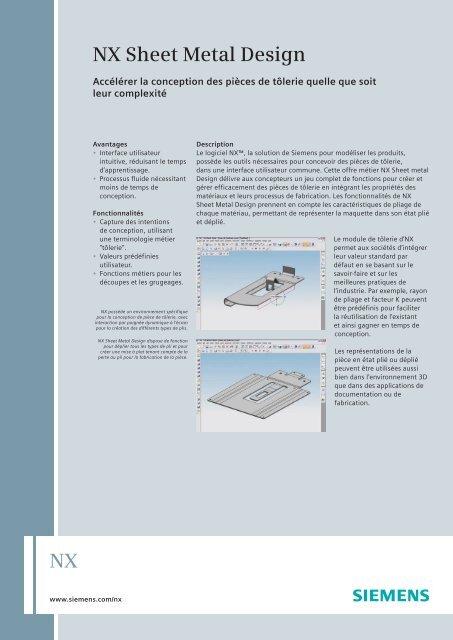 NX sheet metal design (French) - Siemens PLM Software
