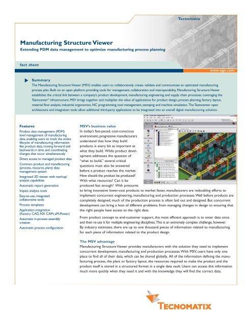 Manufacturing Structure Viewer - Siemens PLM Software